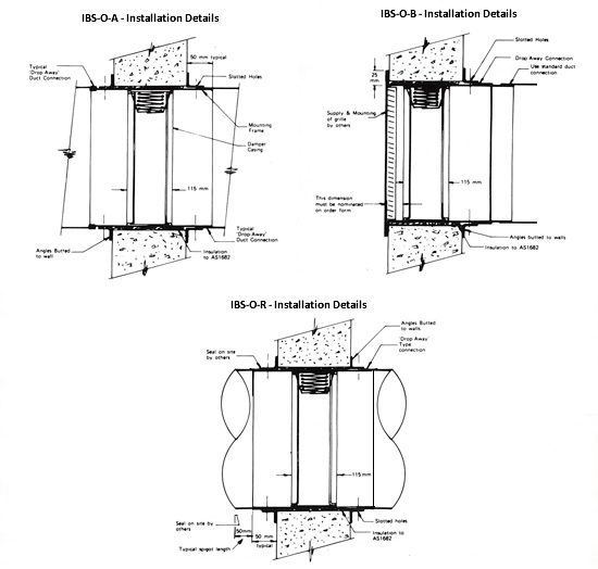 Our products ruskin fire and smoke damper high fire for Motorized fire smoke damper installation